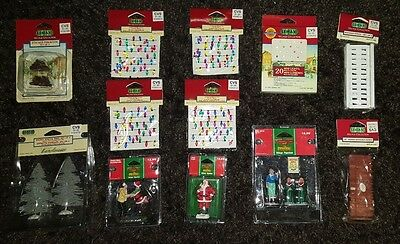 Lemax Coventry Cove Christmas Village Figurine Sets Trees Lights Fence Santa