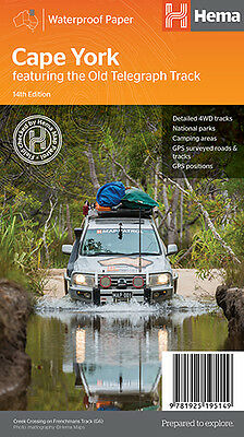 HEMA CAPE YORK - THE OLD TELEGRAPH TRACK MAP 14th ED 4WD TOURING CAMPING FISHING