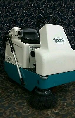 Tennant 6100 ride on sweeper with low hours & new batteries and FREE shipping!