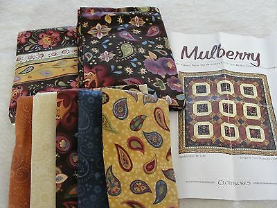 MULBERRY Collection Quilt Kit by Zipkin Martin Clothworks Pattern & Fabric