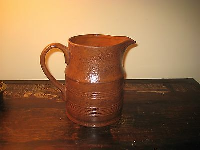 Primitive Ragon House Brownstone Pitcher Free Ship on $59+ Order