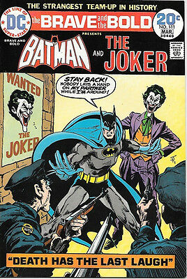 The Brave and the Bold Comic Book #111, DC Batman and The Joker 1974 VERY FINE