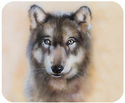 Mouse Pad Custom Personalized Thick Mousepad-Painted Wolf-Add Any Text Free