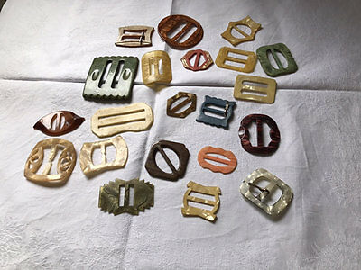 Vintage/antique Buckles,lot Of 21.