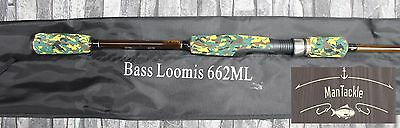 BASS LOOMIS 662ML 2 pc Fishing Rod Spinning Carbon 198cm