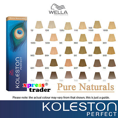 Wella Koleston Perfect Permanent Hair Color Dye 60g  - Pure Naturals Series