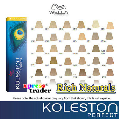 Wella Koleston Perfect Permanent Hair Color Dye 60g  - Rich Naturals Series