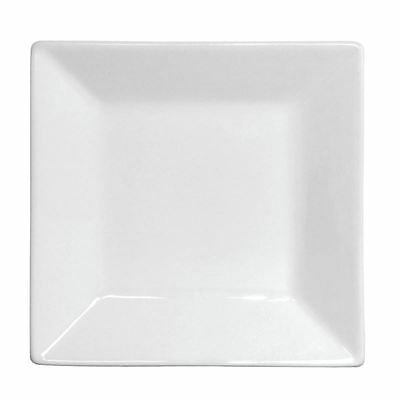 12x Olympia Whiteware Deep Square Plates 150mm Serving Kitchen Tableware