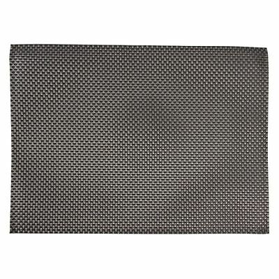 6X APS PVC Silver And Grey Placemat Table Coasters Waterproof Tableware
