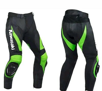 Kawasaki Leather Trouser (Pants) - Ce Approved Full Protection