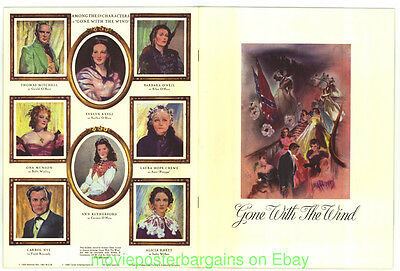 GONE WITH THE WIND 1939 SOUVENIER PROGRAM 50TH ANN.18 PAGES 1989 Turner Ent.
