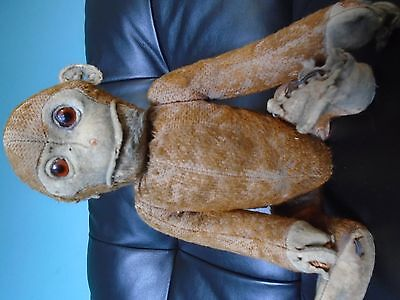 """Schuco Yes / No Monkey  Circa 1920's - 11"""" sitting Germany FOREVER HOME WANTED!!"""