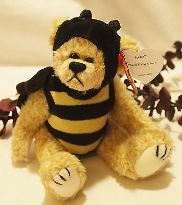 Ty Beanie Babies Attic Treasures 1993 Beezee  Bear Bumble Bee Tag Excellent