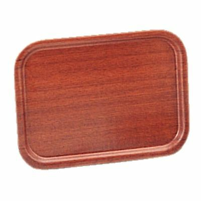 Mahogany Veneer Tray 450 x 340mm Rectangular Serving Platter Kitchen Tableware