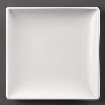 6x Olympia Whiteware Square Plates 295mm Kitchen Serving Dinnerware Restaurant