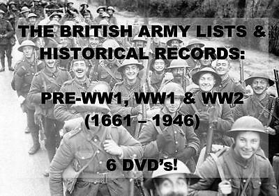 BRITISH ARMY LISTS WORLD WAR 1 & 2 - 272 BOOKS ON 6 DVDs! medal badge ancestry