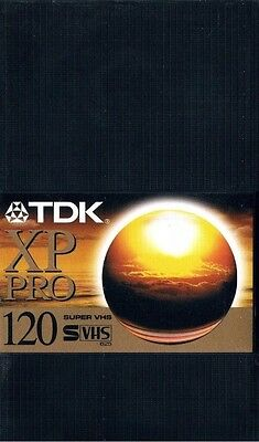 TDK XP Pro 120 S-VHS Super VHS Professional Cassette Tape New