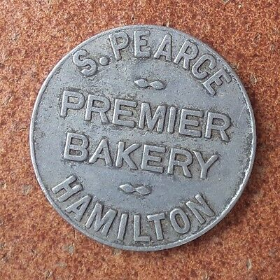 S Pearce Premier Bakery Hamilton  One Loaf Bread Token