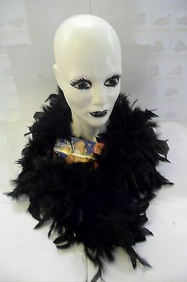 Carnevale Widmann Boa Con Piume Nero Black Feather Boa 1,8 M  Art 0365B