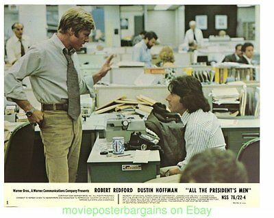 ALL THE PRESIDENT'S MEN LOBBY CARD Set 9 Different MOVIE POSTER S ROBERT REDFORD