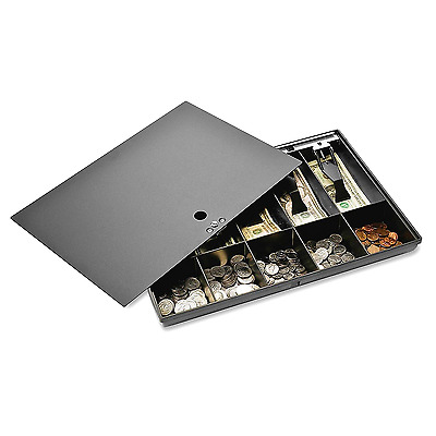 Money Tray & Locking Cover. Store Cash Drawer Security Safe Register Storage Box