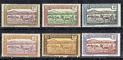 Cameroon.  1925-1927  Cattle Fording River.   SG68-72 & 88.  Mint.