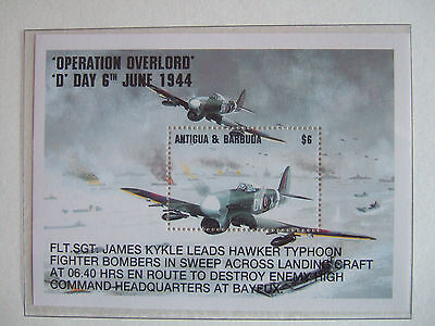 Antigua & Barbuda 1994 Operation Overlord D Day $6 M/s Mint Mnh Ms2013