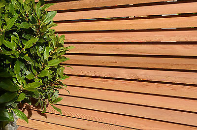 Sapele batons/ slats used in contemporary style fencing tropical hard wood