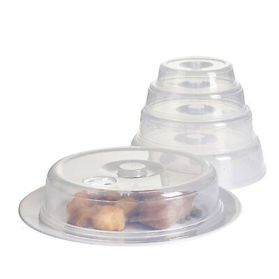 Set of 5 Ventilated Microwave Plate / Dish Covers -Mixed Sizes - Dishwasher Safe
