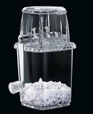 Transparent Manual Plastic Ice Crusher - Great for Cocktails/Slush for the kids