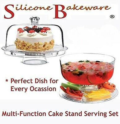 Multi-Function Cake Stand with Dome Lid 30cm