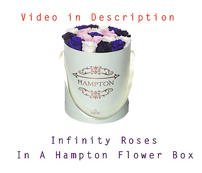 Infinity Roses In A Flower Box, A Hampton Flower Box that Last For Over 1 Year
