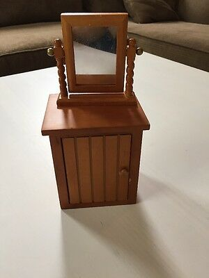 AMERICAN GIRL Angelina Ballerina Retired Kitchen Cottage Cabinet And Mirror Wood