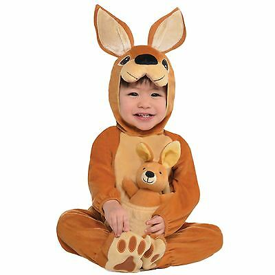 Baby Kangaroo Jumpin Joey Costume Babies Toddler Animal Fancy Dress Outfit Zoo