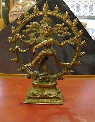 Early 20th C. Indian Bronze Shiva Nataraja, statue shiva nataraja bronze