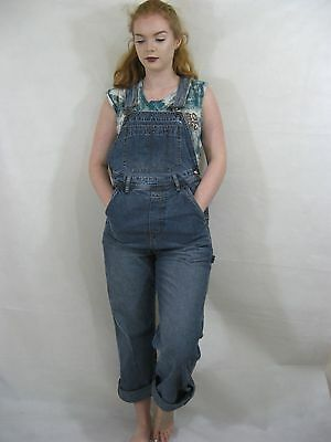 Denim Dungarees Maternity Size S L31 Oversized Blue Overalls Long Jumpsuit