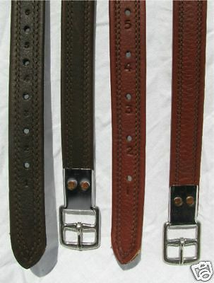 """Heritage Dark Brown 52"""" 100% English Made/leather Non Stretch Stirrup Leathers"""