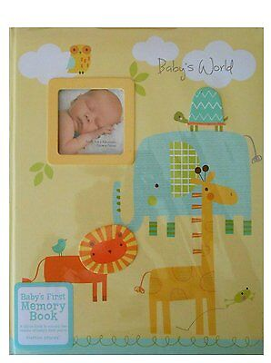 """CR Gibson Stepping Stones """"Babys World"""" Babys First Memory Book - Animals Theme"""