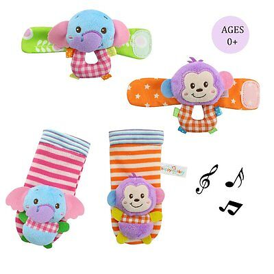 Daisy Baby Infant Wrist and Rattle Socks Hands Foots Finders Soft Education Toy