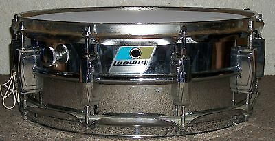 Vintage LUDWIG SUPRAPHONIC 5 X 14 SNARE DRUM - Blue and Olive Badge