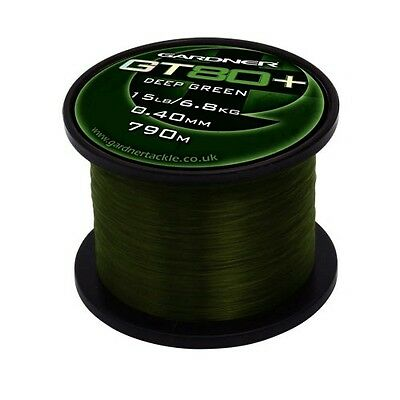 Gardner GT80+ Mono Fishing Line Green and Clear
