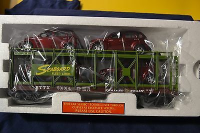 MTH Rail King 30-76557 Seaboard Auto Carrier Flat Car w/4 PT Cruisers - NEW