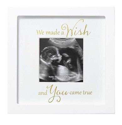C.R. Gibson Sonogram Photo Frame, We Made A Wish