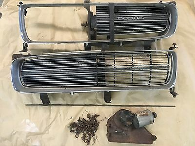 1971 Charger Super Bee Hideaway Headlight Grill Grilles Concealed Nice Chrome