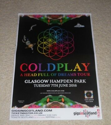 Coldplay CONCERT POSTER - music show gig tour poster - Buy 1 get 1 Half Price