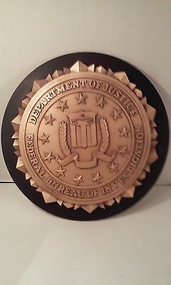 Authentic FBI Wall Hanging Or Podium Signage For Home, Office or Man Cave