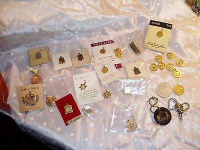 30 LOT 64 Years Old From a Jewish Rabbi, Pendants, Charms & More, Join Synagogue