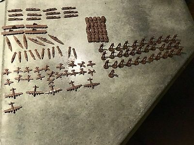 AXIS & ALLIES GAME REPLACEMENT PARTS RUSSIAN RED ARMY NAVY TANKS 100+ piece HUGE