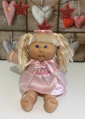 2004 Cabbage Patch Kids Blonde Hair Blue Eyes Pink Pretty Dress Play Along ����