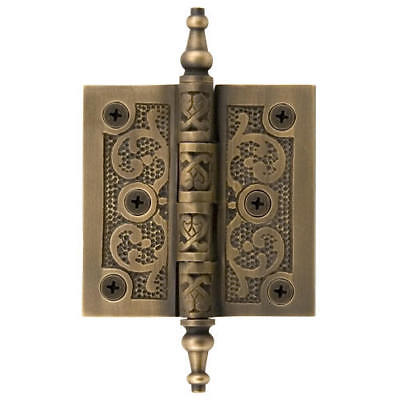 Signature Hardware Solid Brass Flourish Hinge